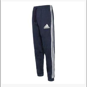 NWT Mens Adidas Navy Blue Essential Fleece Joggers